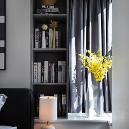 平和现代风卧室书柜设计图