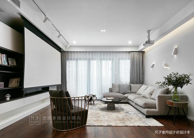 現代風小復式客廳筒燈圖