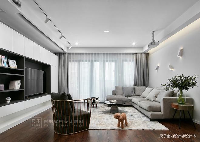現代風小復式客廳設計圖