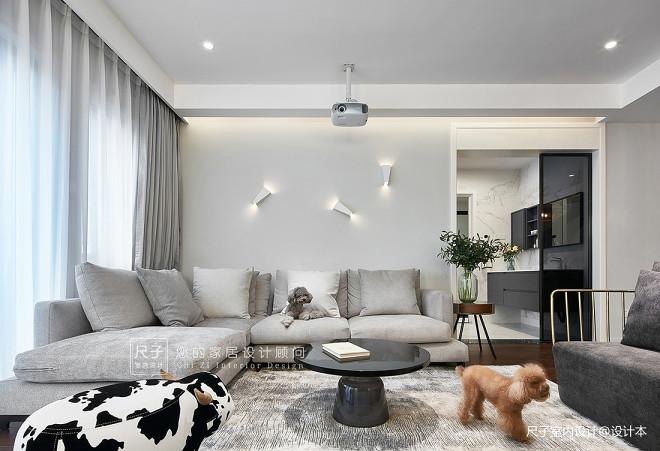 現代風小復式客廳沙發圖片