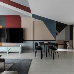 Color Shape复式混搭风客厅设计
