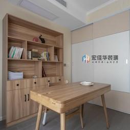 温馨简约风书房书柜设计