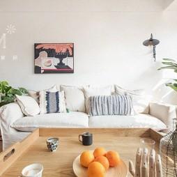 75㎡自然混搭客厅沙发图