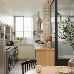 75㎡自然混搭厨房设计图