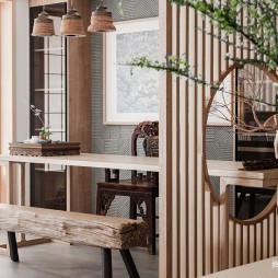 四居中式风格休闲区设计