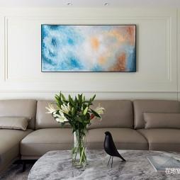 136㎡美式客厅沙发图片