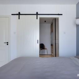小复式北欧风卧室谷仓门设计