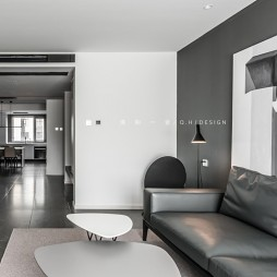 139㎡二居极简现代客厅茶几图
