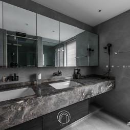 139㎡二居极简现代洗手台设计
