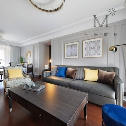 135㎡现代美式客厅沙发图