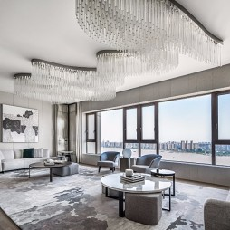 515㎡ 平层现代风客厅实景图片