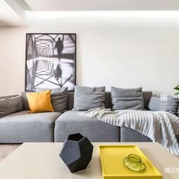 简单自然现代风客厅沙发图