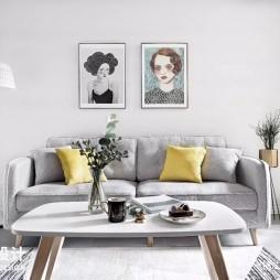 75㎡北欧客厅沙发图片