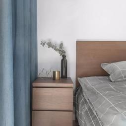 75㎡北欧卧室床头柜设计