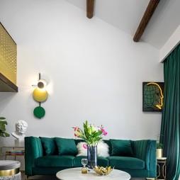 50平小户型混搭风客厅沙发图