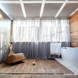 50平小户型混搭风卫浴实景图片