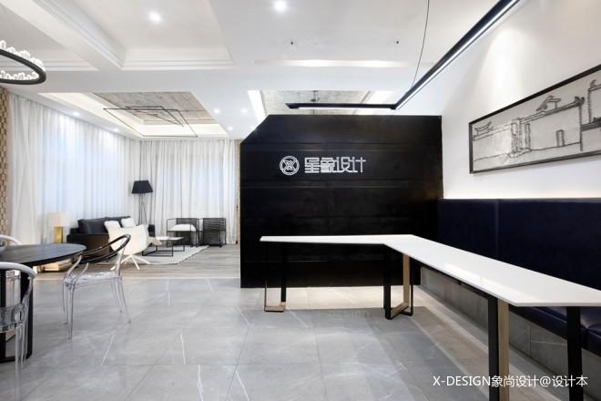 黑白格混搭风星象办公室入口设计