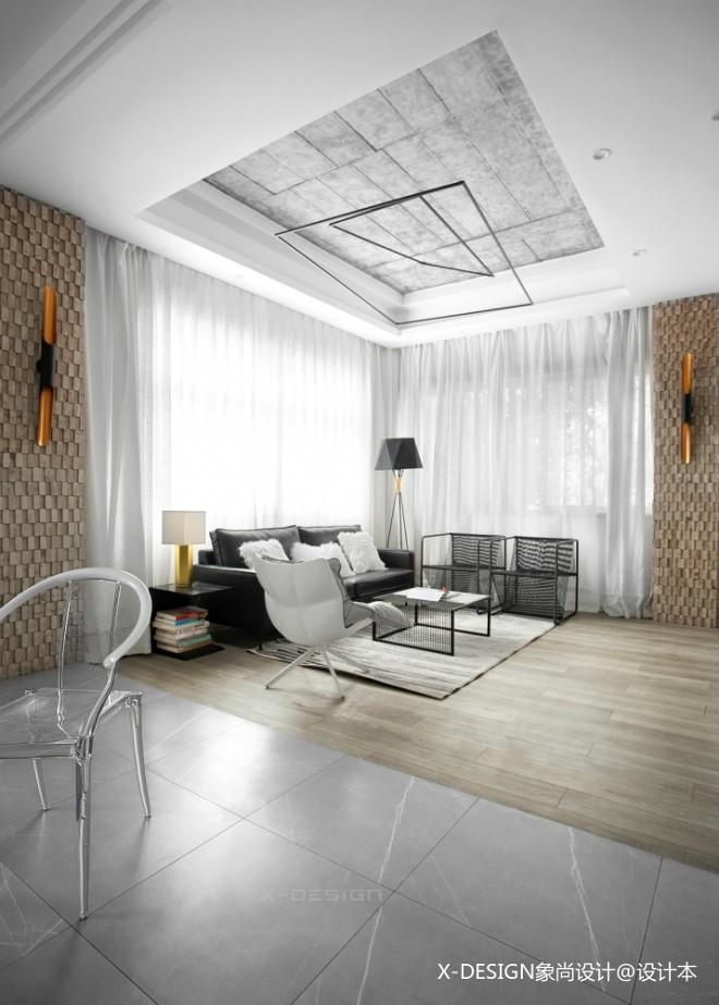 黑白格混搭风星象办公室吊顶设计