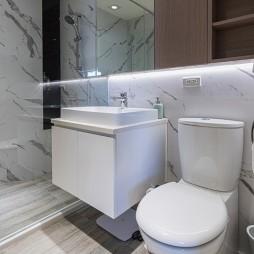 简单现代风卫浴实景图片