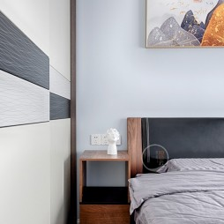 金科天宸现代风卧室衣柜设计