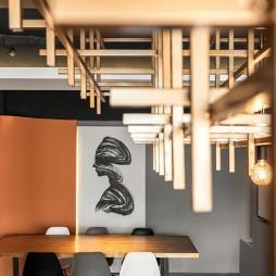 赤橙办公空间吊顶设计图