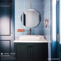 摩登混搭卫浴洗手台设计