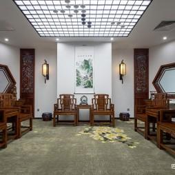 创意办公空间中式会议室设计
