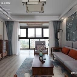 中式现代客厅实景图