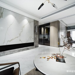 简约 • 灰有度客厅电视背景墙设计图