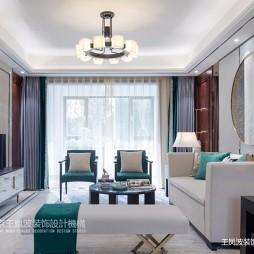 简约新中式客厅实景图