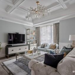 美式别墅客厅实景图片
