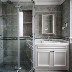 美式别墅卫浴实景图片