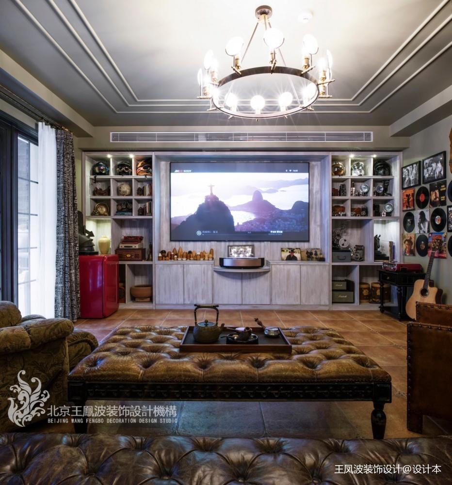 温哥华森林别墅视听室设计图片
