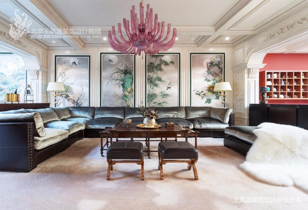 法式风格别墅客厅吊灯图