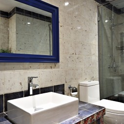 温情美式风卫浴洗手台设计