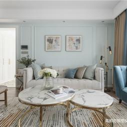 美式客厅沙发茶几图