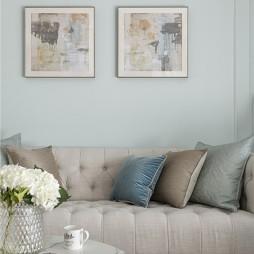 美式客厅装饰画图