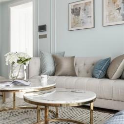 美式客厅茶几图