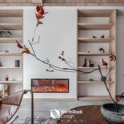 安和 混搭风客厅储物架设计