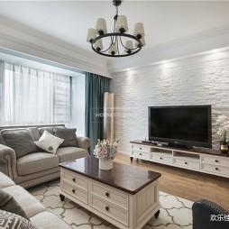清新美式客厅吊灯图片