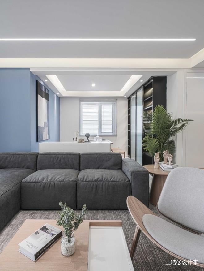 现代风样板房客厅沙发图