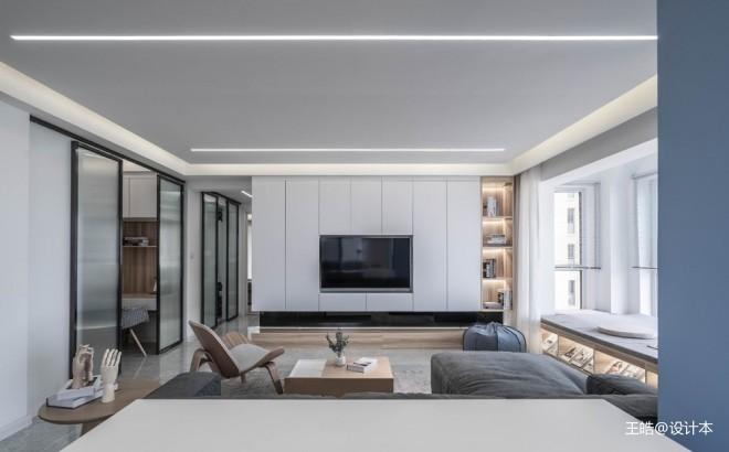 现代风样板房客厅背景墙设计图