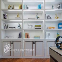 现代简约风书房书柜设计