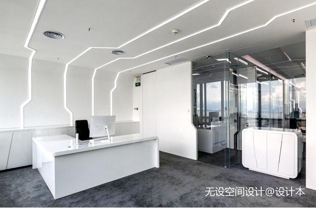 单立柱效果图_办公空间270平米装修案例_效果图 - 如何装修一个充满科技感的 ...