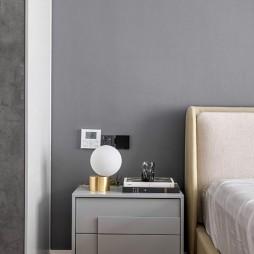 黑白灰现代风卧室床头柜设计