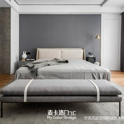 黑白灰现代风主卧室设计