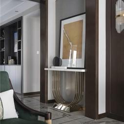 温和混搭风客厅端景台设计