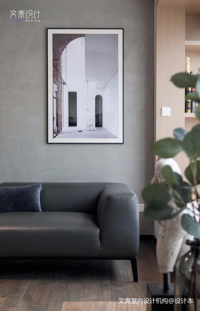 现代两居室客厅实景图