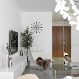 极简公寓视听室设计图