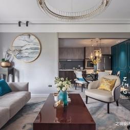 现代复式改造客厅茶几图
